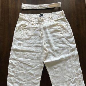 Georgia Armani Cream colored Linen Pants